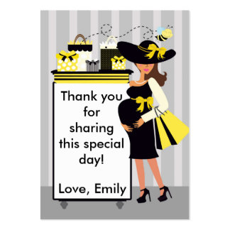 Bee Baby Shower Thank You Tag Label Pack Of Chubby Business Cards