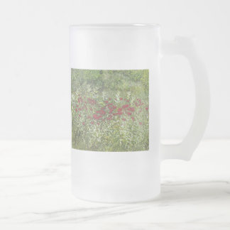 Bee Balm (Bergamont) in August Frosted Glass Mug
