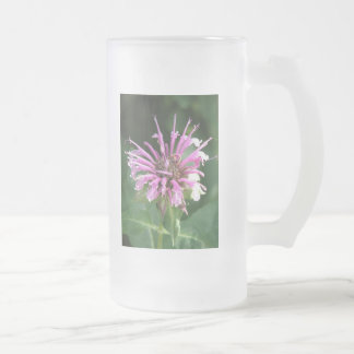 Bee Balm Flower Frosted Beer Mug