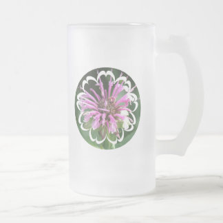 Bee Balm Flowers Frosted Beer Mug