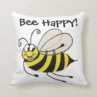 Bee - Bee happy - Pillow Throw Cushion