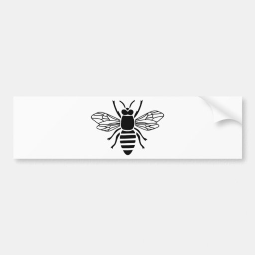 bee bee wasp bumble wasp hummel insect fly bumper stickers