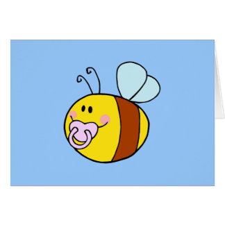 Bee Bees Bug Bugs Insect Cute Cartoon Animal Greeting Card