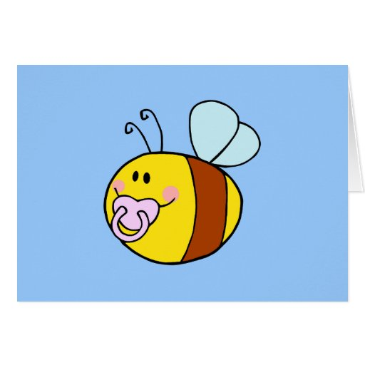 Bee Bees Bug Bugs Insect Cute Cartoon Animal Greeting Cards