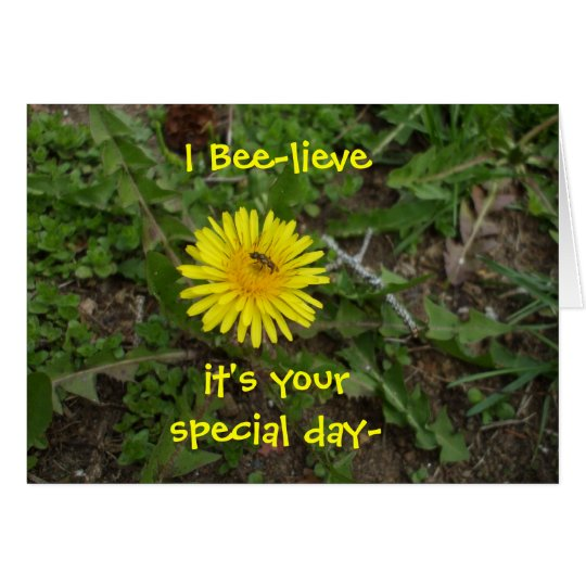 Bee Birthday For All Card