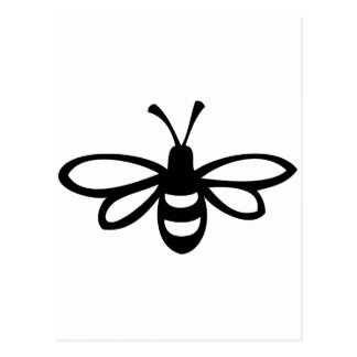 Bee [black] postcard