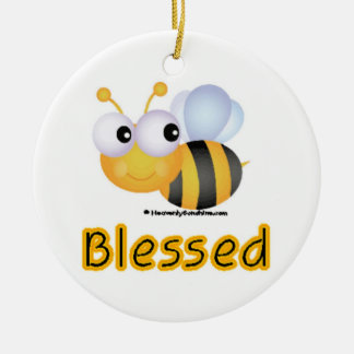 Bee Blessed Christmas Ornament