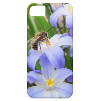 Bee & Blue Flowers iPhone5 case Barely There iPhone 5 Case