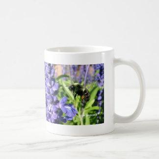 Bee Blue Salvia 021, sue peacock Coffee Mugs