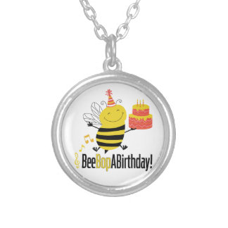 Bee Bop A Birthday Silver Plated Necklace