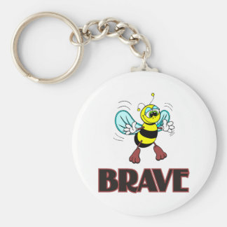 BEE BRAVE BASIC ROUND BUTTON KEY RING