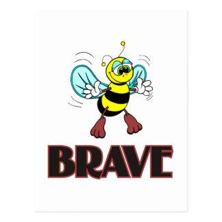 BEE BRAVE POSTCARD