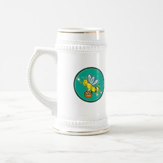 Bee Carrying Basket With Bread Cartoon Beer Steins