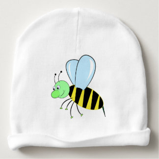 bee cartoon beautiful illustration baby beanie