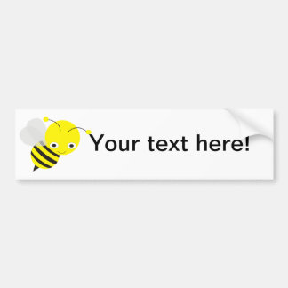 Bee cartoon bumper sticker