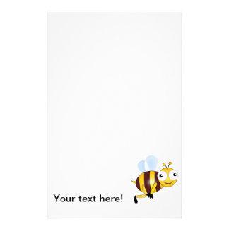 Bee cartoon stationery paper