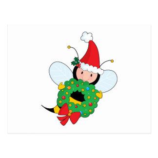 Bee Christmas Postcard