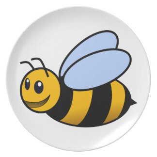 Bee - cute plate