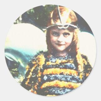 Bee Cute Round Sticker