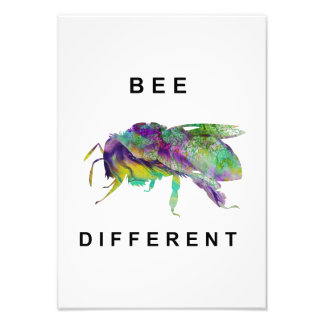 Bee Different Photo Print