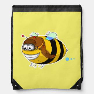 Bee Drawstring Backpack