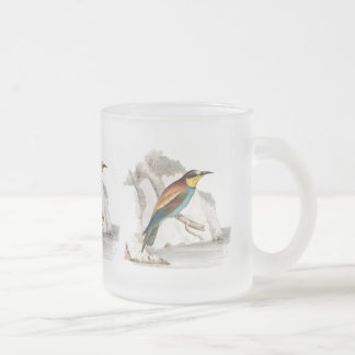 Bee Eater Frosted Glass Mug