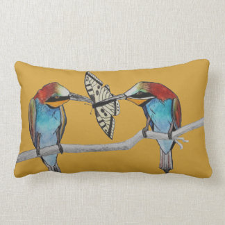 Bee Eaters Watercolour Painting Cushion Custom Throw Pillow