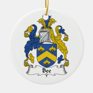 Bee Family Crest Christmas Ornament