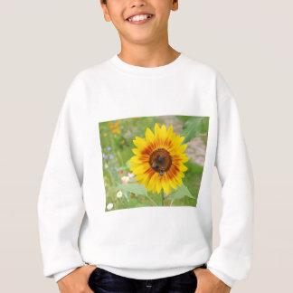 Bee Fetching Nectar From Sunflower Flower Sweatshirt