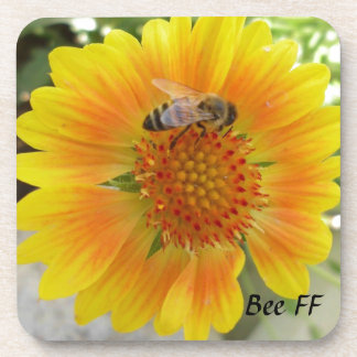 Bee FF Beverage Coaster