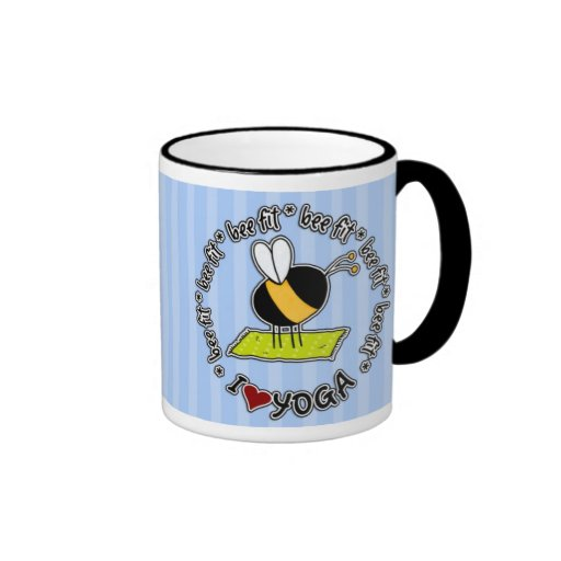 bee fit - yoga mug