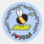 bee fit - yoga sticker