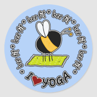 bee fit - yoga sticker