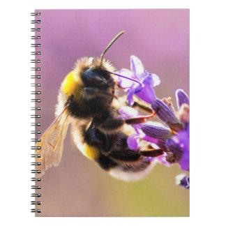 Bee Flower Beautiful Nature Scenery Note Book