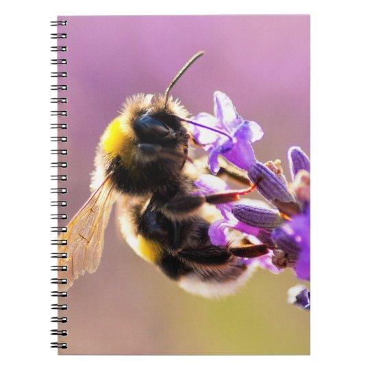Bee Flower Beautiful Nature Scenery Notebook