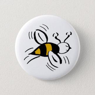 Bee Free Honey and Black 6 Cm Round Badge