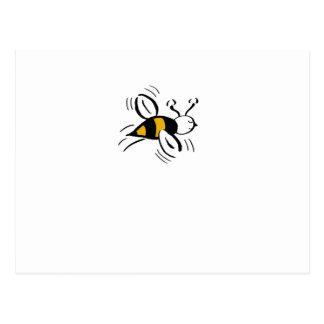 Bee Free Honey and Black Mini Postcard