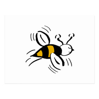 Bee Free Honey and Black Postcard