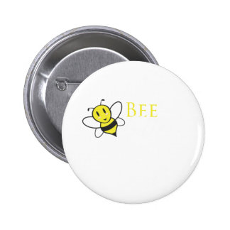 Bee Free Inspirational Design 6 Cm Round Badge
