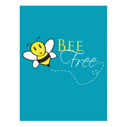 Bee Free Inspirational Design Postcard