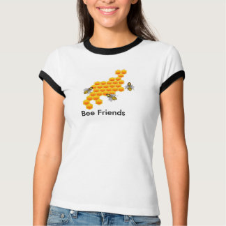 Bee Friends Womans Ringer Tee