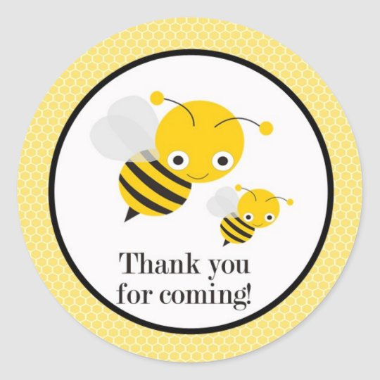 Bee Gender Reveal Baby Shower Favour Stickers
