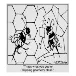 Bee Geometry Poster