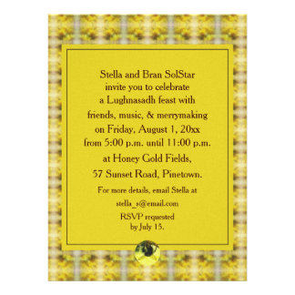 Bee Goldenrod Lughnasadh Lammas Harvest Custom Announcement