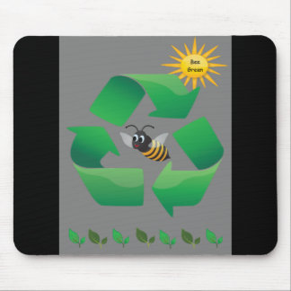 Bee Green - Cute Environmental Mouse Pad
