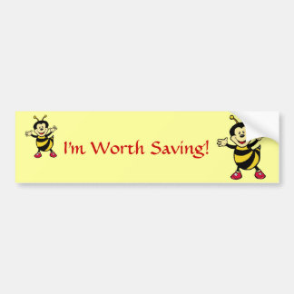 Bee Guy Bumper Sticker