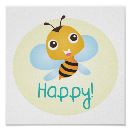 Bee Happy Baby Print