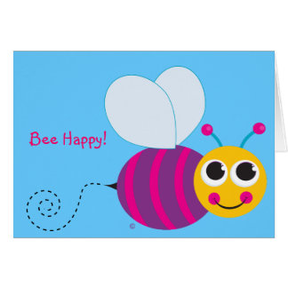 Bee Happy Bumblebee Notecard
