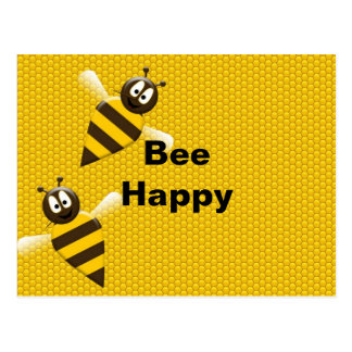 Bee Happy Bumblebee Postcard