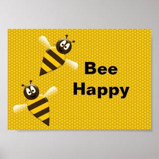 Bee Happy Bumblebee Poster